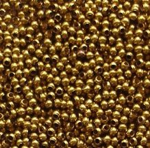 15/0 Metal Seed Beads Matt Gilding - 3 grams